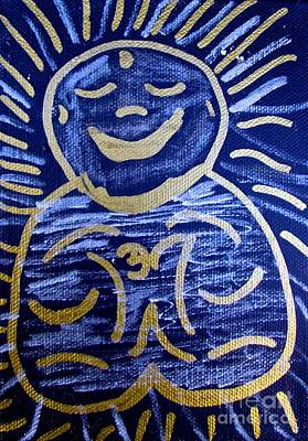 Tony B. Conscious Painting - Buddha Drawing by Tony B Conscious