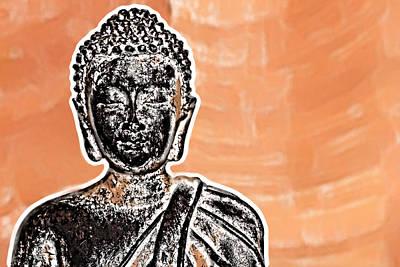 Digital Art - Buddha Face by Semmick Photo