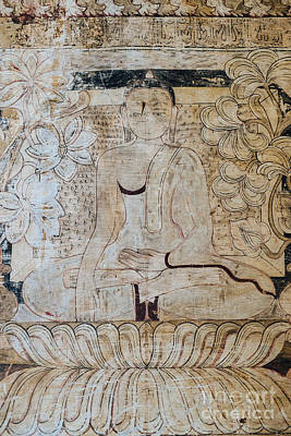 Photograph - Buddha Fresco by Dean Harte