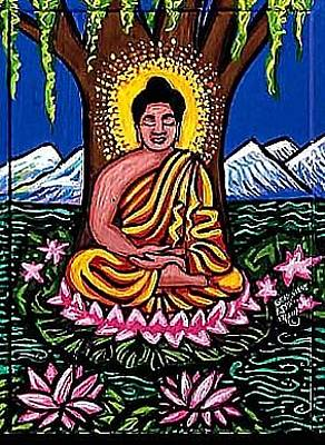 Landscape-like Art Painting - Buddha by Genevieve Esson