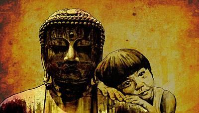 Buddha Girl Art Print by Richard Tito