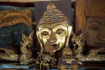 Pyrography - Buddha Head Handicrafts by Judith Barath