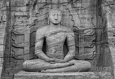 Energy Photograph - Dhyana Mudra Buddha by Hitendra SINKAR