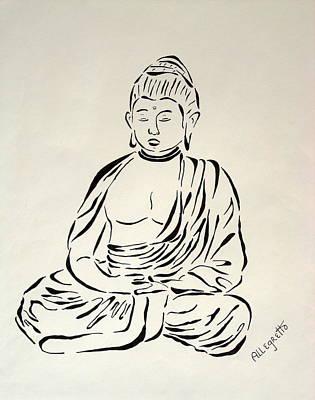 Buddha In Black And White Original