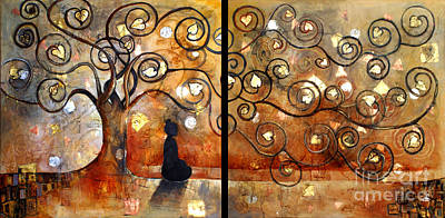 Klimt Painting - Buddha In Bodhi Tree II by Paulina Garoa
