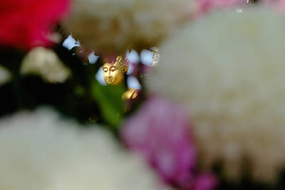 Buddha In Flowers Art Print