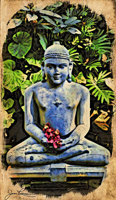 Painting - Buddha In Garden by Joan Reese