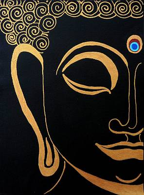 Thai Mixed Media - Buddha Iv by Kruti Shah