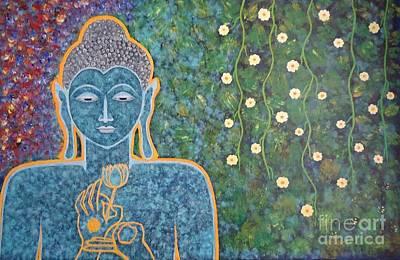 Lord Buddha Painting - Buddha by Jnana Finearts