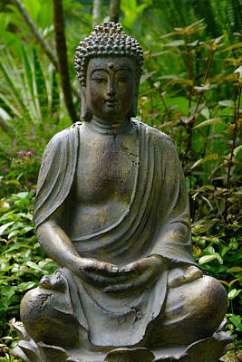 Print featuring the photograph Buddha by Keith Hawley