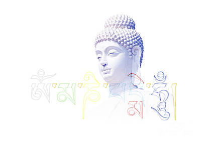 Buddha Mantra  Art Print