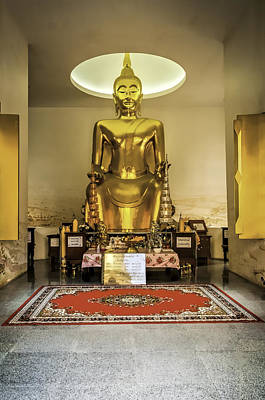 Gold Buddha Art Print by Maria Coulson