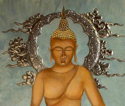 Buddha Art Print by Mary jane Miller