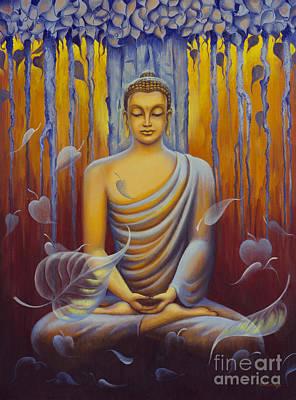 Mani Painting - Buddha Meditation by Yuliya Glavnaya