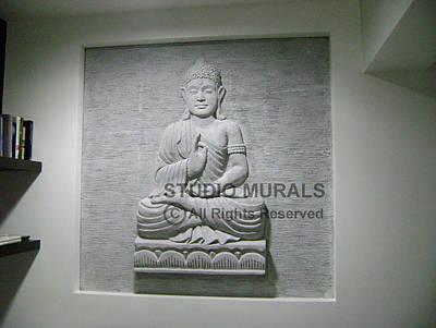 Siporex Sculpture - Buddha  by Milind Badve