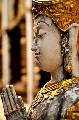 Buddha - Namaskara Mudra Art Print by Dean Harte