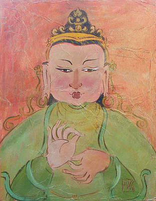 Wall Art - Painting - Buddha Of Contentment by Sally Huss