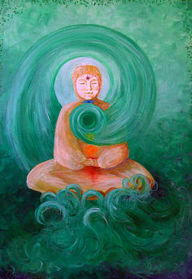 Buddha Painting Print by Avril Whitney