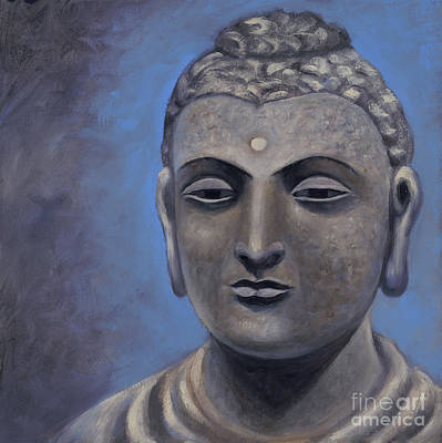 Painting - Buddha Portrait by Birgit Seeger-Brooks