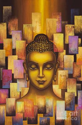 Buddha. Rainbow Body Art Print by Yuliya Glavnaya