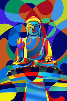 Digital Art - Buddha by Randall Henrie