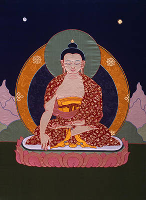 Tibetan Buddhism Tapestry - Textile - Buddha Shakyamuni by Leslie Rinchen-Wongmo