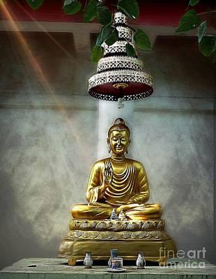 Photograph - Buddha's Shining Light by Ian Gledhill