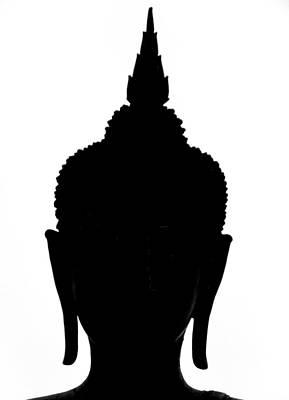 Buddha Photograph - Buddha Silhouette by Ian Scholan