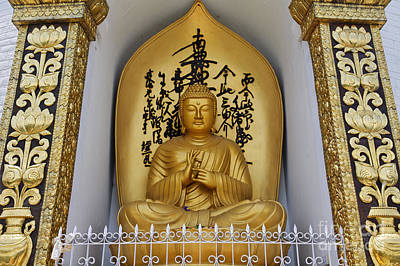 Buddha Statue At The World Peace Pagoda Pokhara Art Print by Robert Preston