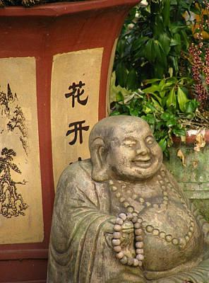 Buddha Statue In The Garden Art Print by Eva Csilla Horvath