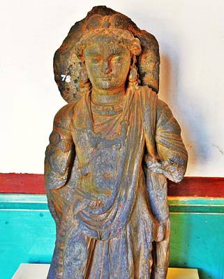 Photograph - Ancient Buddha Statue - Albert Hall - Jaipur India by Kim Bemis