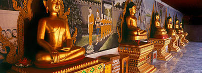 Buddha Image Photograph - Buddha Statues In A Temple, Bangkok by Panoramic Images