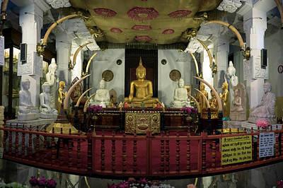 Buddha Statues In Sri Dalada Maligawa Art Print by Panoramic Images