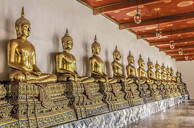 Photograph - Buddha Statues by Maria Coulson