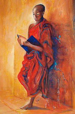 Buddha Study Original by Myra Evans