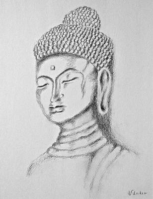 Drawing - Buddha Study by Victoria Lakes