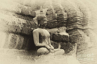Photograph - Buddha Sukhothai Thailand 5 by Bob Christopher