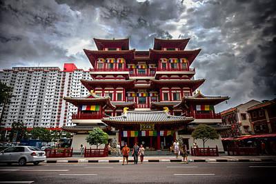 Photograph - Buddha Temple by Mark Perelmuter