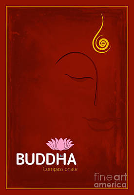 Compassion Digital Art - Buddha The Compassionate by Tim Gainey