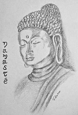 Drawing - Buddha by Victoria Lakes