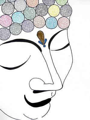 Drawing - Buddha Vii by Kruti Shah