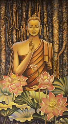 Painting - Buddha by Vrindavan Das