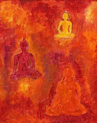 Buddhas Of Compassion Art Print