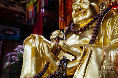 Hand Of Gold Photograph - Buddha's Pearl Of Wisdom by Dean Harte