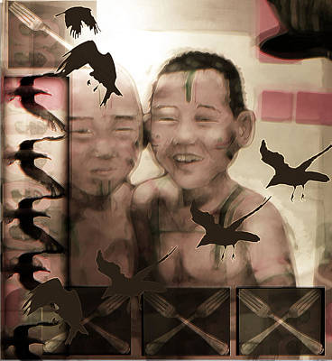 Buddhist Boys Art Print