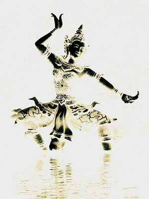 Buddhist Dancer Art Print by Ramona Johnston
