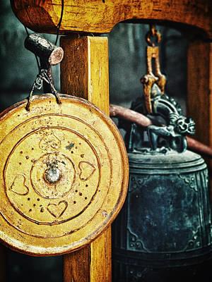 Gong Photograph - Buddhist Gong by Skip Nall