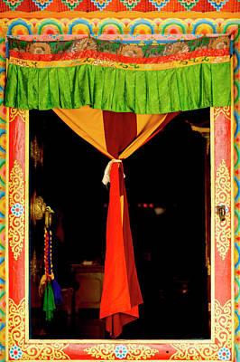 Buddhist  Monastery Art -  Decorated Art Print by Jaina Mishra