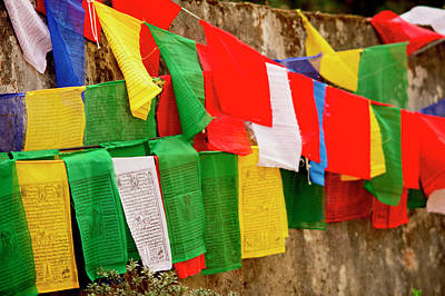 Buddhist  Monastery In Sikkim India Art Print by Jaina Mishra