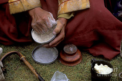 Photograph - Buddhist Monk Eats Tsampa - Mt Kailash Trek by Craig Lovell